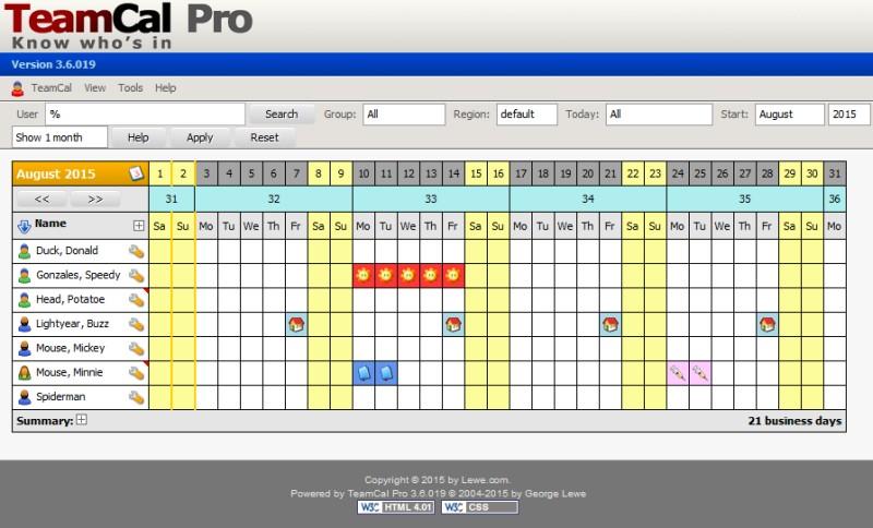 TeamCal Pro - Lewe.com