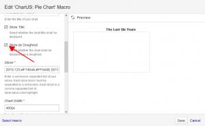 Pie Chart Macro Dialog (Doughnut Option)