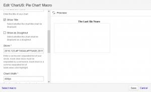 Pie Chart Macro Dialog