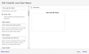 Line Chart Macro Dialog