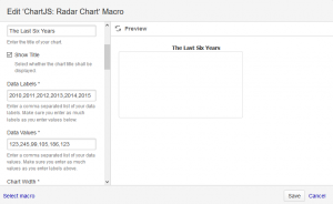 Radar Chart Macro Dialog