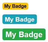 Bootstrap Visuals for Confluence Badge