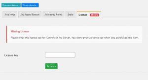 WordPress License Tab
